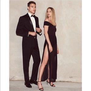 Express Off Shoulder Bikini Bodysuit Maxi Dress